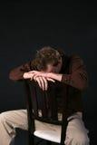 Homem com cabeça para baixo Imagens de Stock