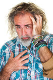 Homem com cabelo longo Imagens de Stock Royalty Free