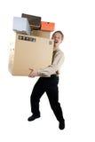 Homem com caixas Imagem de Stock