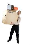 Homem com caixas Foto de Stock Royalty Free