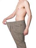 Homem com calças desproporcionados Foto de Stock