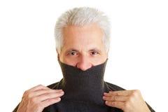 Homem com camisola do turtleneck imagens de stock