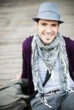 Homem com chapéu Foto de Stock Royalty Free