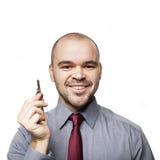 Homem com chaves Imagens de Stock