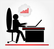 Homem com computador Fotografia de Stock Royalty Free