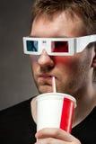 Homem com copo de papel Fotos de Stock