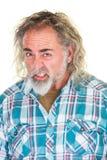 Homem com dentes apertados Imagens de Stock