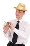 Homem com dinheiro imagem de stock royalty free