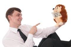 Homem com dinheiro imagens de stock