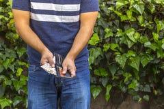 Homem com dinheiro Foto de Stock Royalty Free