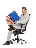 Homem com dobradores Foto de Stock Royalty Free
