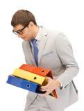 Homem com dobradores Fotos de Stock Royalty Free
