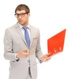 Homem com dobradores Imagem de Stock