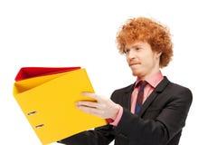 Homem com dobradores Imagens de Stock