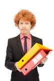Homem com dobradores Fotos de Stock