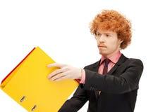 Homem com dobradores Foto de Stock
