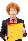 Homem com dobradores Fotografia de Stock