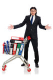Homem com dobradores do negócio Foto de Stock Royalty Free