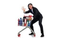 Homem com dobradores do negócio Imagem de Stock