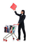 Homem com dobradores do negócio Imagens de Stock Royalty Free