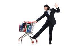 Homem com dobradores do negócio Foto de Stock