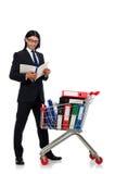 Homem com dobradores do negócio Imagens de Stock