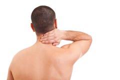 Homem com dor de garganta fotos de stock royalty free