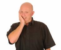 Homem com dor do dente fotografia de stock