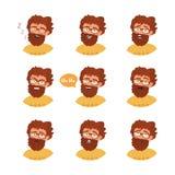 Homem com emoções diferentes ilustração royalty free