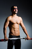 Homem com espada Fotografia de Stock Royalty Free