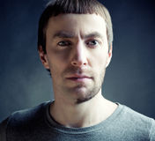 Homem com estilo de cabelo engraçado Imagem de Stock Royalty Free