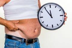 Homem com excesso de peso Fotografia de Stock Royalty Free