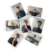 Homem com expressões múltiplas foto de stock royalty free