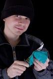 Homem com faca Fotografia de Stock