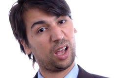 Homem com face engraçada Imagem de Stock