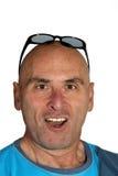 Homem com face engraçada Imagens de Stock
