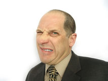 Homem com face irritada imagem de stock royalty free
