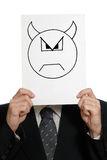 Homem com a face pintada do diabo Foto de Stock