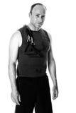 Homem com faixa da resistência Foto de Stock