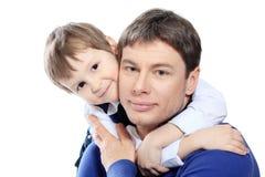 Homem com filho Imagens de Stock
