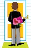 Homem com flores Imagens de Stock Royalty Free