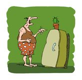 Homem com fome ilustração do vetor