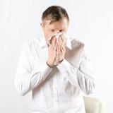 Homem com frio Imagem de Stock Royalty Free