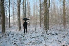 Homem com guarda-chuva Fotografia de Stock