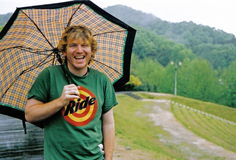Homem com guarda-chuva Foto de Stock