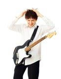 Homem com guitarra Fotografia de Stock
