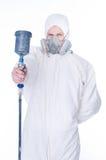 Homem com injetor do airbrush Foto de Stock