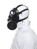 Homem com máscara de gás imagem de stock royalty free