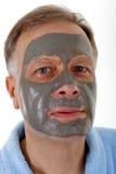 Homem com máscara facial foto de stock