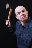 Homem com machado Fotos de Stock Royalty Free